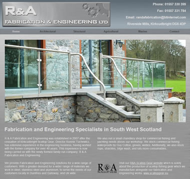 R&A Fabrication and Engineering, Kirkcudbright, Dumfries and Galloway, Scotland