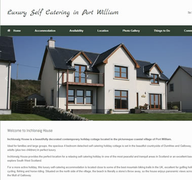 Galloway Luxury Cottages Website, Port William