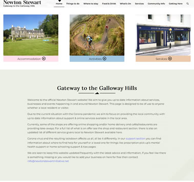 Newton Stewart Website