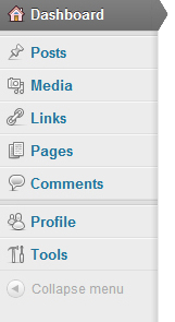 WordPress Sidebar Menu