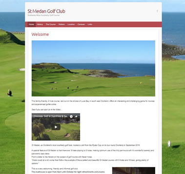 St. Medan Golf Club Website - Luce Bay, south west Scotland